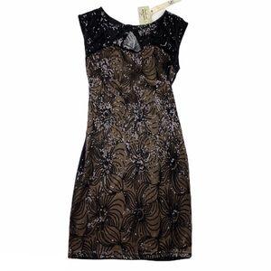 Ya Los Angeles Sequin Back Detail Mini Dress LBD S